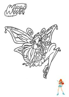 Winx club Bloom coloring pages for girls