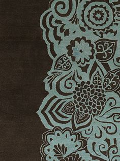 Blue & Brown Rug pattern