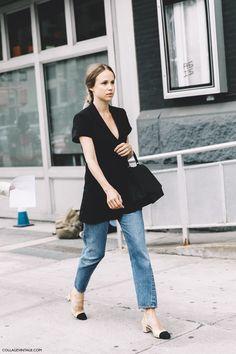 New_York_Fashion_Week-Spring_Summer-2016--Street-Style-Elin_Kling-Levis-Chanel_Shoes-