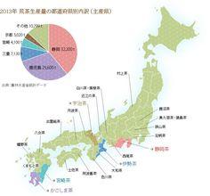 日本のお茶は、静岡産と鹿児島産とその他大勢に分けられる。