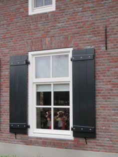 House Shutters, Window Shutters, Facades, Driftwood, Beautiful Homes, Garage Doors, Windows, Patio, Outdoor Decor