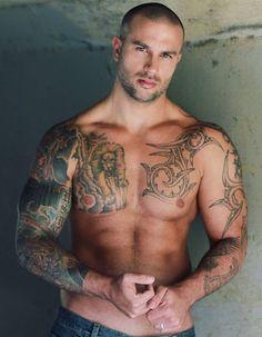 Sexy Guy with Tattoos #tattoo #tattoos #tattood #sexy #sexubody #tats #ink #inked #guy #man #tatts #inkedguys #guyswithtattoos