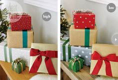 High/Low gift wrap