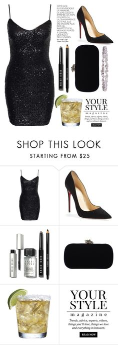 """Clubbing the night in Egyp"" by mari-marishka ❤ liked on Polyvore featuring New Look, By Terry, Christian Louboutin, Bobbi Brown Cosmetics, House of Harlow 1960 and Pussycat"