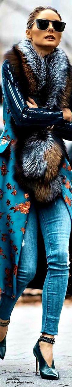Olivia Palermo, I Love Fashion, Plaid Scarf, Style Icons, Your Style, Celebrity Style, Street Style, Denim, Stylish