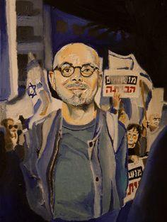 portrait of Eldad Yaniv, painted by Roee Lavan, oil on canvas, 2019 Oil On Canvas, Portrait, Painting, Art, Art Background, Headshot Photography, Painting Art, Kunst, Portrait Paintings