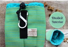 Dog Treat Bag Pouch with Carabiner & Belt by MountainUrsusDesigns