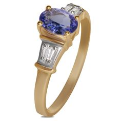 1/10cttw Diamond with Tanzanite Ring in 10k Yellow Gold - Jewelry Deals 80% OFF + $25 OFF extra discount on purchases $500 & UP ! Enter PINPROMOT coupon at CHECKOUT to get $25 OFF when you place your order @ NissoniJwelry.com