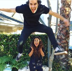 HIS VISAGE Liza Koshy And David Dobrik, Amandas Chronicles, Lily Singh, Vlog Squad, Brown Girl, Cute Couples, Youtubers, Pop Culture, Leather Pants