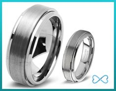 Tungsten Wedding BandWedding Band Set by infinitebands on Etsy, $149.99