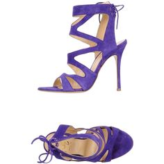 Icône Sandals ($175) ❤ liked on Polyvore featuring shoes, sandals, purple, purple shoes, leather sole shoes, leather shoes, leather footwear and round cap