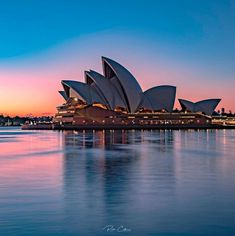 Pastel glow around the beautiful Opera House at sunrise 💕🧡 . Sydney Australia, Opera House, Sunrise, Glow, Pastel, Building, Places, Travel, Beautiful
