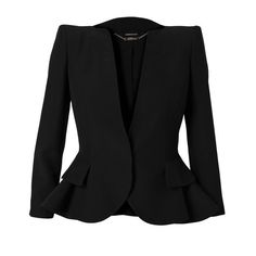 ALEXANDER MCQUEEN Tailored Peplum Jacket ($2,295) ❤ liked on Polyvore