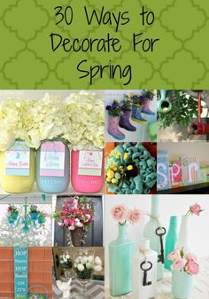 30 ways to decorate for spring pin
