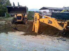 #JCB puede con cualquier trabajo pesado.