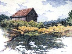 Landscape Drawings in coloured Pencil | Colored Pencil Drawings Of Landscapes Medium: colored pencil