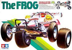 Tamiya - The Frog. My first Tamiya RC car. I ran the wheels off it with its 6 cell 1200 mah ni-cad pack. Awesome car!