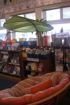 The twirling book rack makes this classroom library feel like a book store!