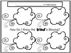 Wind theme activities and printables for Preschool, Pre-K