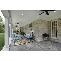 This gallery of patio design ideas offers pictures of different styles of outdoor patios. Find out which patio design is best for your home's backyard. Outdoor Patio Designs, Outdoor Spaces, Outdoor Living, Two Sided Fireplace, Gas Fireplace, Indoor Outdoor Fireplaces, Porch Styles, Bluestone Patio, Flagstone Path