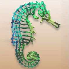 Wow...the colors on this Seahorse Metal Wall Art are so vibrant and gorgeous. I want!!! Made in the USA! $84.00