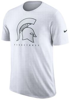 0323d4acaaf Nike Michigan State Spartans White Player Short Sleeve T Shirt
