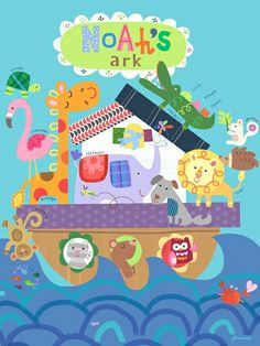 Noah's Great Big Ark Canvas Wall Art rosenberryrooms.com