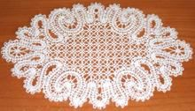 Set of 2 Freestanding Lace Machine Embroidery Designs that can be assembled into this doily