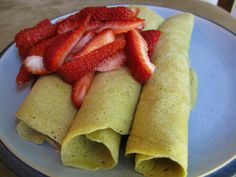 Plantains crepes with #paleo nutella and strawberries