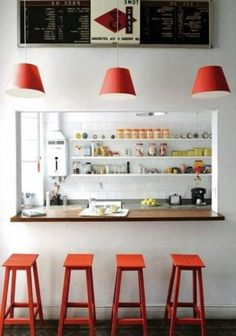This can also be cool for a bar, but less white tiles, and more of a better set up in the background.