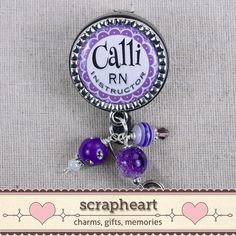 RN Instructor Personalized Name Badge Reel by ScrapheartGifts