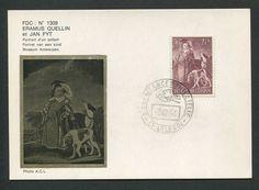 BELGIEN MK 1964 GEMÄLDE HUND DOG PAINTING MAXIMUMKARTE MAXIMUM CARD MC CM d1025