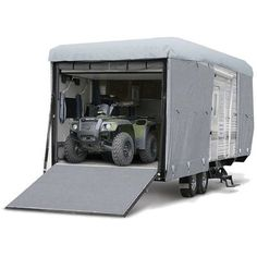 Budge Premier Toy Hauler or Travel Trailer Cover, Heavy Duty Waterproof RV Cover (Gray) Camper Trailer For Sale, Trailers For Sale, Camper Trailers, Travel Trailers, Toy Hauler Camper, Small Motorhomes, Airstream Basecamp, Lightweight Trailers, Light Trailer