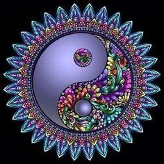 Mandala Wallpaper, Mandala Artwork, Mandala Drawing, Mandala Painting, Yin Yang Tattoos, Tatuajes Yin Yang, Arte Yin Yang, Ying Y Yang, Yin Yang Art