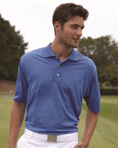 61db556a Shop for adidas - Golf ClimaLite® Textured Short Sleeve Polo. Get free  delivery at Overstock - Your Online Men's Activewear Destination!