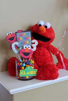 "Photo 12 of 30: Elmo, Sesame street, rainbow / Birthday ""Claire's Elmo Party"" 