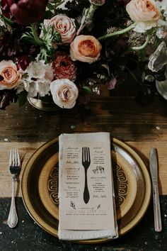 Our beautiful menus designed by Tusker & Co Catering by Caterina Kangaroo Valley Flowers by Jardine Botanic and Mikarla Bauer