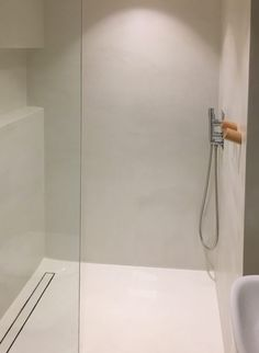 Five Clever Decorating Hacks You Need To Know: heated panel in wall with hooks instead of heated bto Contemporary Bathrooms, Modern Bathroom, Small Bathroom, Bathroom Ideas, White Bathrooms, Luxury Bathrooms, Minimalist Bathroom, Dream Bathrooms, Cement Bathroom