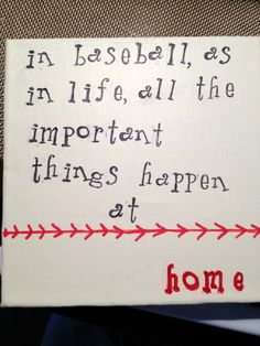 A small canvas for my little baseball family.