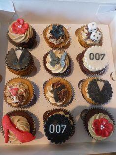 James Bond cupcakes Liverpool