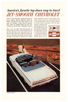 =-=1962 Chevy Impala Ad - 1960's Chevrolet Convertible Car