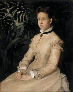 1876 Albert Edelfelt - Portrait of the Artist's Sister Ellen Edelfelt