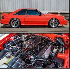 Scott Anderson saved to Body Mustang with Coyote supercharged engine Mustang Engine, Mustang Cars, Ford Mustang Gt, Classic Mustang, Ford Classic Cars, Mustang Hatchback, Ford Fox, Fox Body Mustang, Ford Shelby