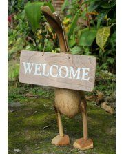 Fair-trade 'Welcome Sign' for Bamboo Ducks ( Duck not Included )