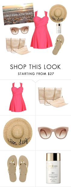 """""""Bucket List"""" by sassyladies ❤ liked on Polyvore featuring Karl Lagerfeld, Eugenia Kim, Havaianas and Clé de Peau Beauté"""
