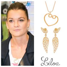 The best Polish tennis player, Agnieszka Radwańska, loves to wear heart with infinity sign necklace and openwork wings earrings. #bemylilou #necklace #earrinfs #wings #heart #infinity #jewelry #style #fashion