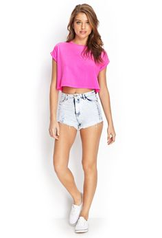 Boxy Crop Top | FOREVER21 - 2000062678