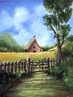 Art Apprentice Online - Acrylic - Online Art Class - Direct Painting Technique - Landscape - Cottage In A Cornfield, $30.00 (http://store.artapprenticeonline.com/acrylic-online-art-class-direct-painting-technique-landscape-cottage-in-a-cornfield/)