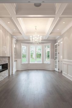 Design ideas, tips and techniques for a unique coffered ceiling in . - Architecture Design ideas, tips and techniques for a unique coffered ceiling in … Dream Home Design, My Dream Home, Home Interior Design, House Design, House Ceiling Design, Hall Interior, Interior Ideas, Style At Home, Living Room Designs