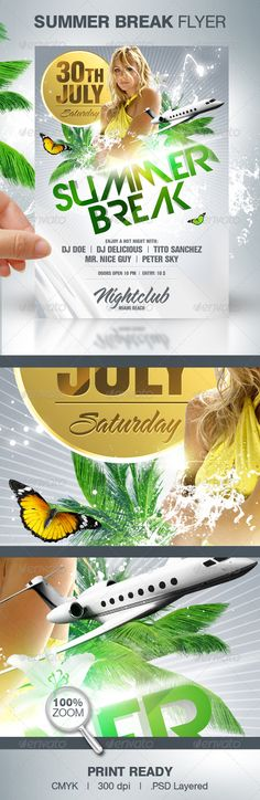 Summer Break Party Flyer - Clubs & Parties Events
